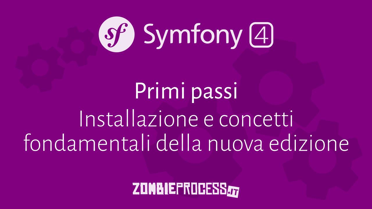Installazione Symfony 4