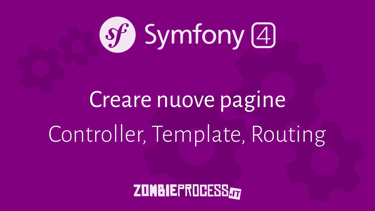 Creare nuove pagine Symfony